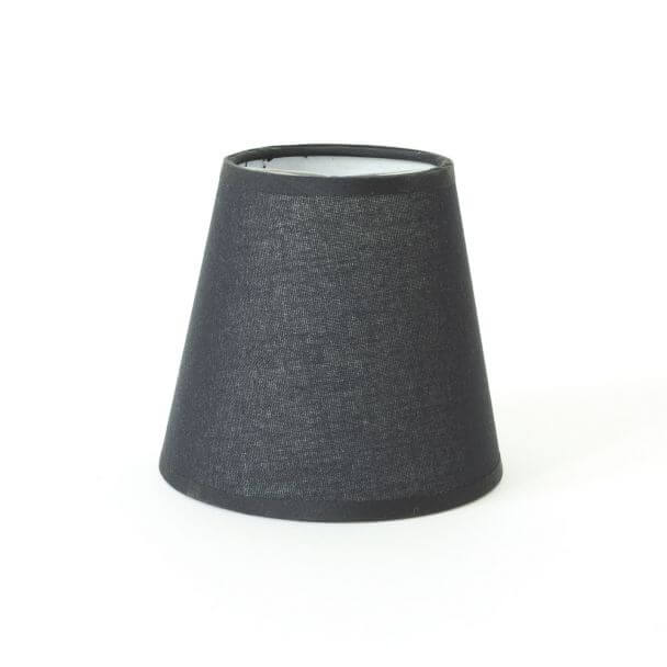 Lampshade black modern for chandelier or Wall light - Isis