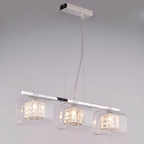 Pendant design light glass and metal - Jaula