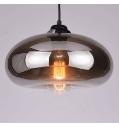 Pendant light designblack transparent glass - Ellipse