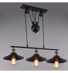 Pendant light design triple black - Piattino