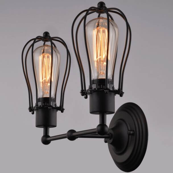 Wall light double industrial design - Voliera