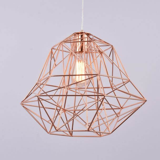 Pendant light - metal copper design modern - Spin