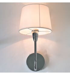 Wall light - white lampshade - Alba