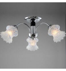 Ceiling light - design 3 Light white glass (E14) Palani