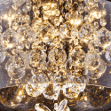 Glass Pendant Light LED with Crystals - Victoria