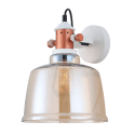 Modern Industrial Wall Light with Amber Shade - Dalia