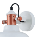 Modern Industrial Wall Light with White Shade - Dalia