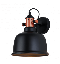 Modern Industrial Wall Light with Black Shade - Dalia