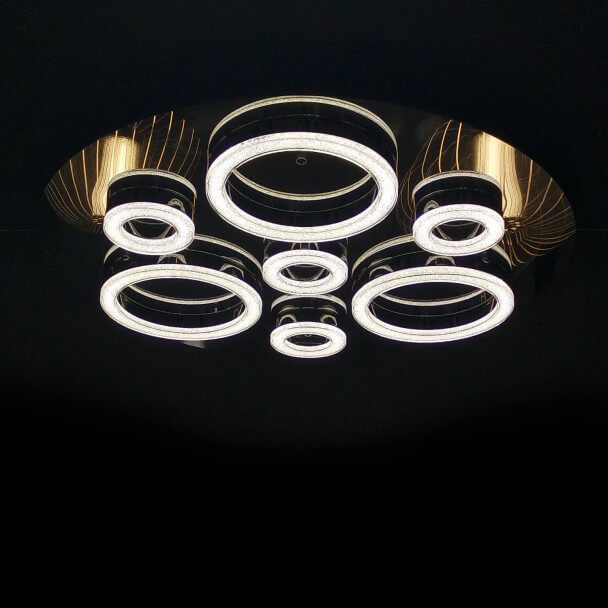 Ceiling light prestige crystal LED 7 circles - Planets