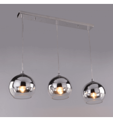 Pendant light design chrome 3 spheres - Chicago