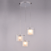 Pendant light design glass 3 lights - Leila