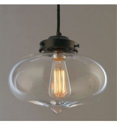 Pendant light - design elliptic transparent - Fecho