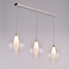 Pendant light - 3 Light design transparent glass - Vietra