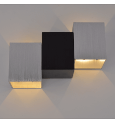 Wall light LED design black and chrome - Terma