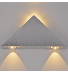 Wall light LED design cone chrome - Pyramida