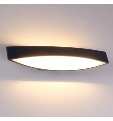 LED white & black modern wall light - Alyson