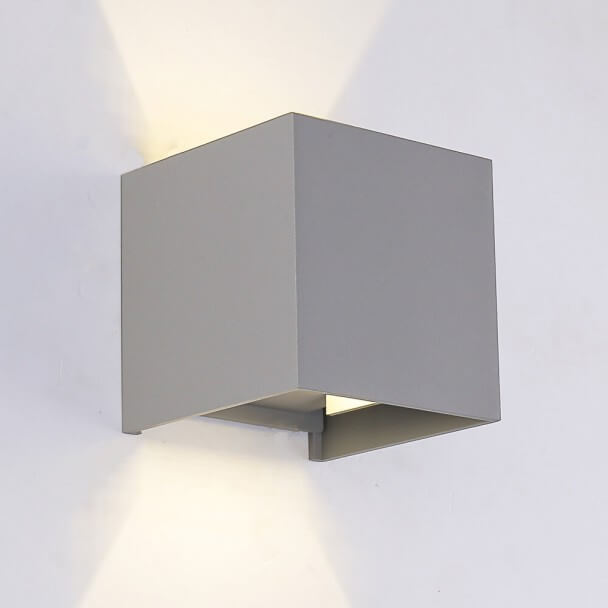 LED Outdoor & Indoor Wall Light - Grey Cubic