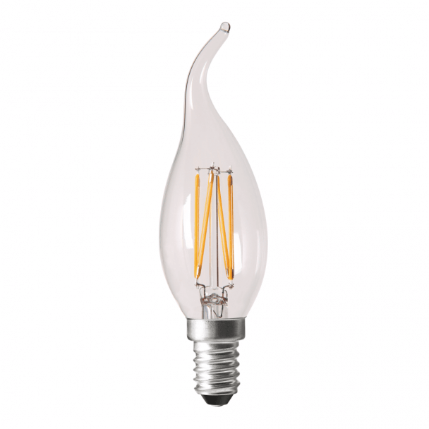 Chic Glass Flame LED Light Bulb - 4W E14 Cap