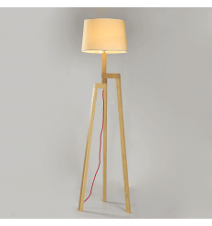 Wooden Scandinavian Tripod Floor Lamp - Lyn