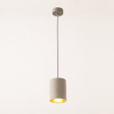 Concrete cylindrical Hanging Lamp - Corin