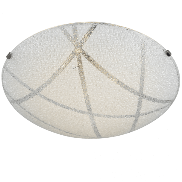 Round LED ceiling light and ornamental glass - Sunset