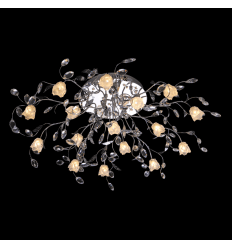 Ceiling light Florentine style in crystal 13 lights - Bell
