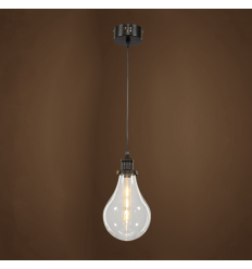 Simple hanging lamp industrial design - Transparent Spark