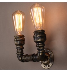 Double vintage industrial wall lamp - Lumi