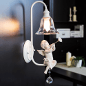Wall Light with White Resin Angel - Eyros