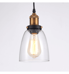 Pendant light - transparent bell design Stradi