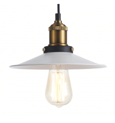 Industrial Dome Pendant Light - White Scopa
