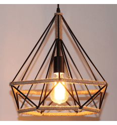Metal and Hemp Pendant Light - Tetra