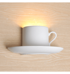 Tea Cup gypsum Wall Light - Brunch