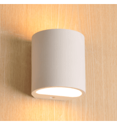 Half barrel Gypsum Wall Light - Azola
