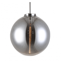 Black Smoked ball glass Pendant Light - Astral