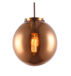 Copper Smoked glass Lighting - Astral
