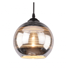 Round Ball Pendant Light Chrome & Glass - Metropolis
