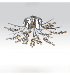 Chrome-plated telecommanded ceiling light Crystal 80 cm - Kiev