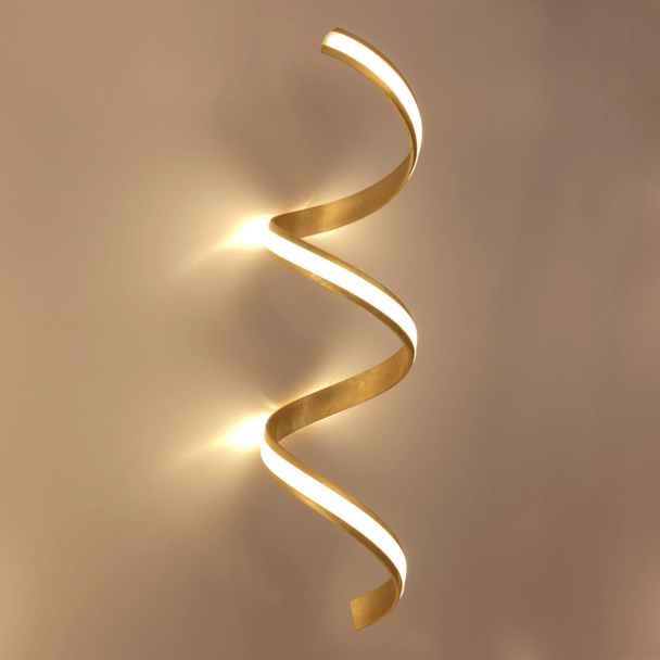 Chic Golden LED Wall Light - Millenium