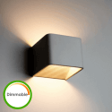 LED Wall Light Dimmable 6W - Quadra 10 cm