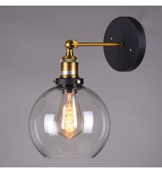 Retro Round glass Wall Light - Olivia