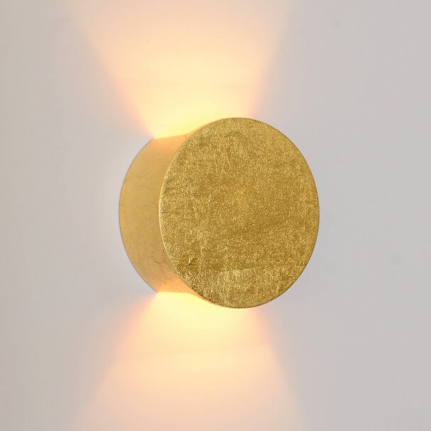 Indirect light wall lamp in plaster - golden Aries finish