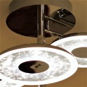 Industrial ceiling lamp with three LED discs - Bremen