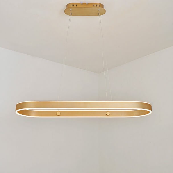 Gold LED lining modern pendant light - Apollo