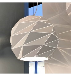 White polygon modern pendant light - Amos