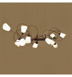 Entangled LED pendant lamp with multiple light - Domi