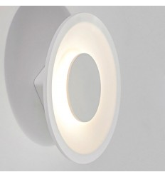 Futuristic wall light D26 cm - White disc Maya