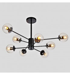 Star-shaped pendant light 8 spheres - Brecht