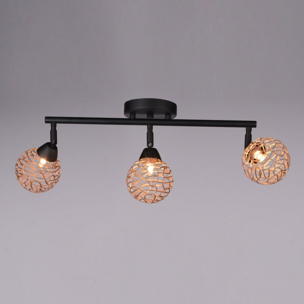 Triple champagne kitchen ceiling light - Houston