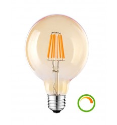filament bulb LED amber ball